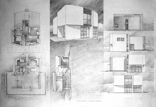 Illustrator's portfolio-ARCHITECTURE. Drawings, sketches, sample